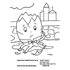 humpty dumpty coloring pages guess the rhyme - Coloring Sheets For Toddlers