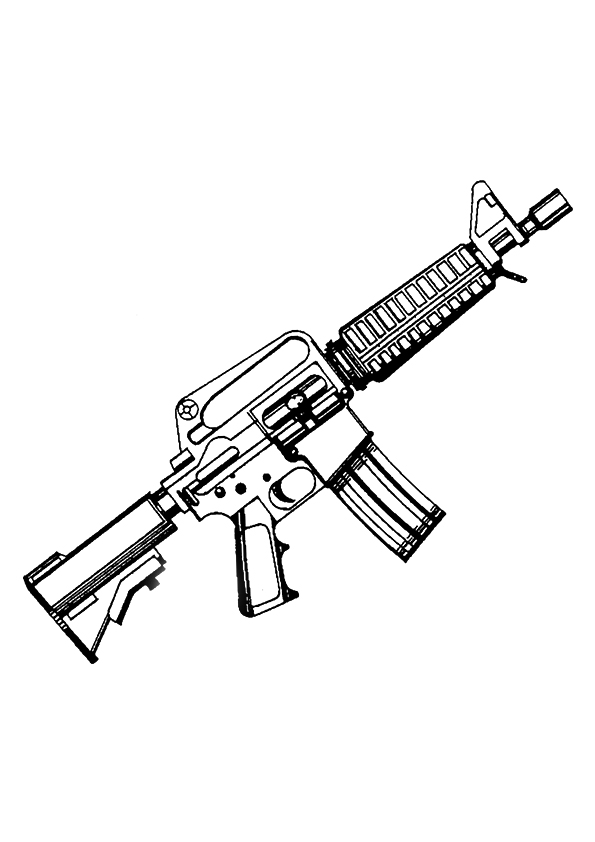 Gun Coloring Pages   Heckler U0026 Koch MP5 Machine