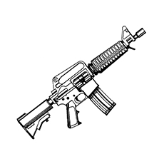 Gun Coloring Pages - Heckler & Koch MP5 Machine