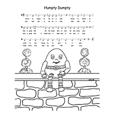 Humpty Dumpty Coloring Pages - Humpty Dumpty Musical Notes