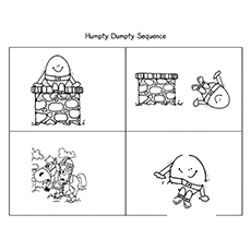 humpty dumpty coloring pages humpty dumpty sequence