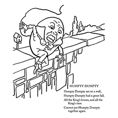 humpty dumpty coloring pages humpty had a fall