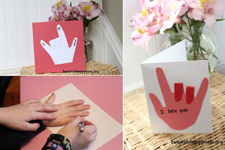 Mother's Day Craft Ideas For Kids - I Love You Sign Language Card