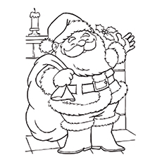 30 Cute Santa Claus Coloring Pages For Your Little Ones