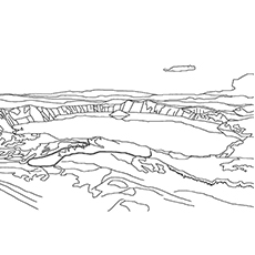 Lake Coloring Pages - Lake Superior
