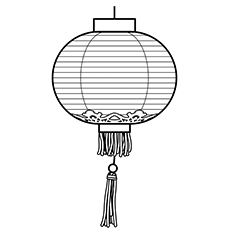 Chinese New Year Coloring Pages - Lantern