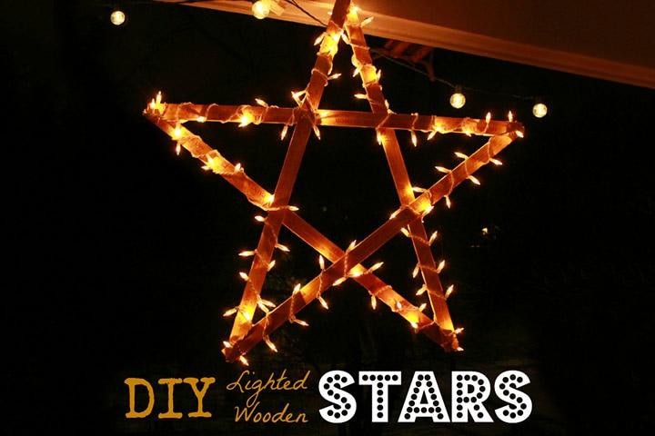 3D Art For Kids - Lighted Wooden Stars