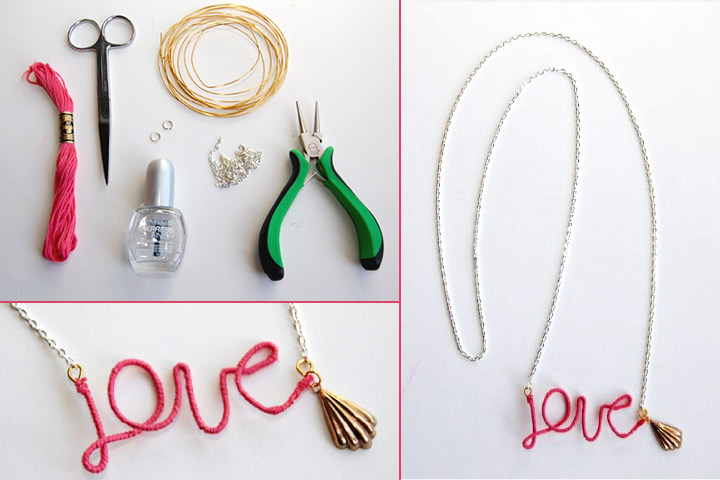 Mother's Day Craft Ideas For Kids - Love Necklace