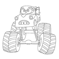 Mater monster truck coloring pages