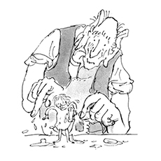 Roald Dahl Coloring Pages - Matilda