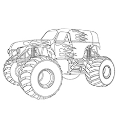 monster truck coloring pages maximum destruction - Monster Truck Mater Coloring Page
