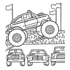 monster truck coloring pages mohawk warrior - Monster Truck Coloring Pages Easy