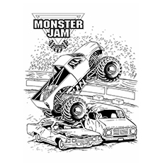 monster truck coloring pages monster jam - Monster Truck Coloring Pages Easy