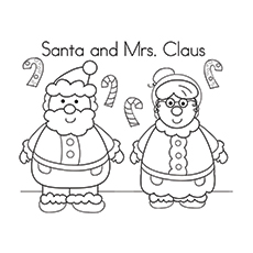 Mr. And Mrs. Santa Claus Pic for Coloring