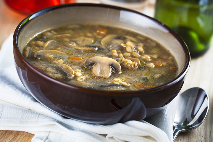 Whole Grain Recipes For Kids - Mushroom And Barley Soup