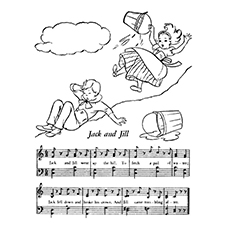 jack and jill coloring page music notes