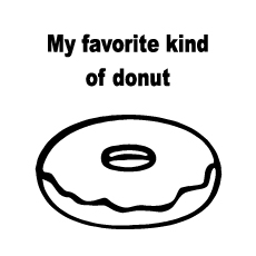 Donut Coloring Page - My Favorite Kind Of Donut