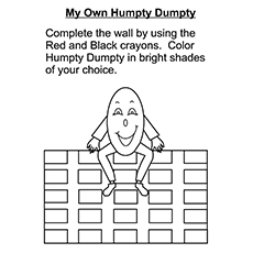 Humpty Dumpty Coloring Pages - My Own Humpty Dumpty