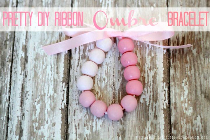 Christmas Gifts For Kids - Ombre Wood Bead Bracelet