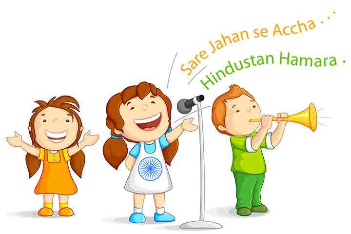 Patriotic singing