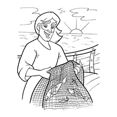 Coloring Page of Peter The Fisherman