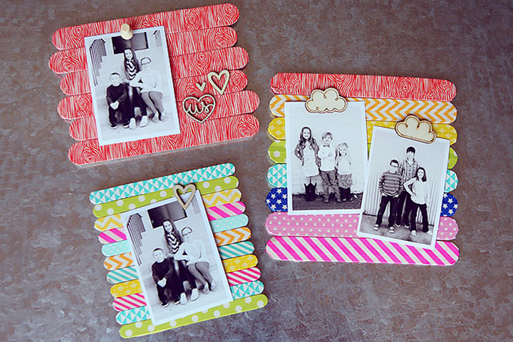 Christmas Gifts For Kids - Popsicle Stick Frames