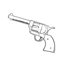 gun coloring pages revolver