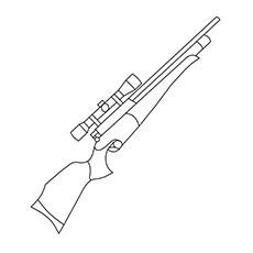 Gun Coloring Pages   Rifle