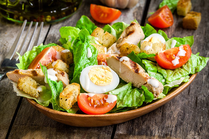 High Protein Breakfast For Kids - Salad