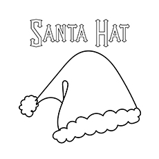 Santa Hat Picture to Color