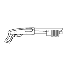Gun Coloring Pages - Shotgun