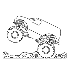 monster truck coloring pages simple monster truck coloring page