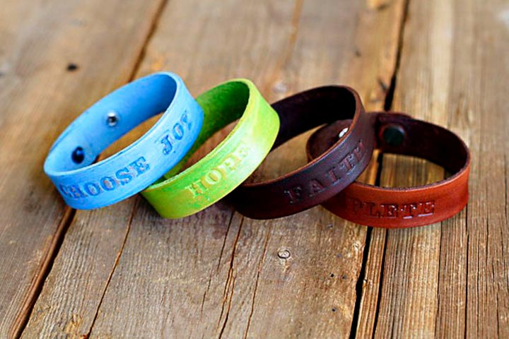 Christmas Gifts For Kids - Stamped Leather Bracelet