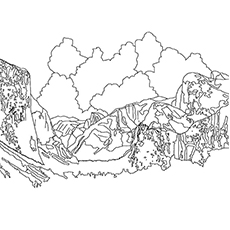 Lake Coloring Pages - Tenaya Lake