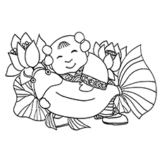 Chinese New Year Coloring Pages - Fish