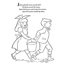 jack and jill coloring page the poem