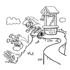 jack and jill coloring page the tumble