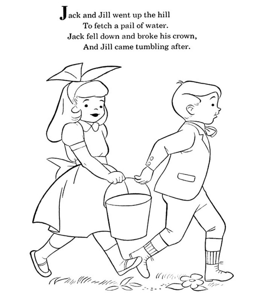 Top 10 Jack And Jill Coloring Pages For
