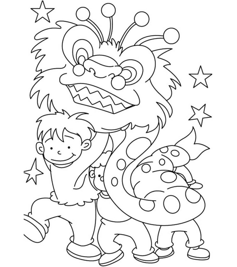 chinese new year free coloring pages | Top 15 Chinese New Year Coloring Pages For Toddler