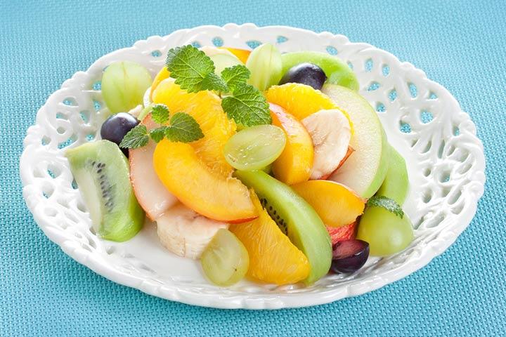 Tropical banana salad