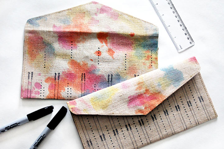 Mother's Day Craft Ideas For Kids - Watercolor Clutch