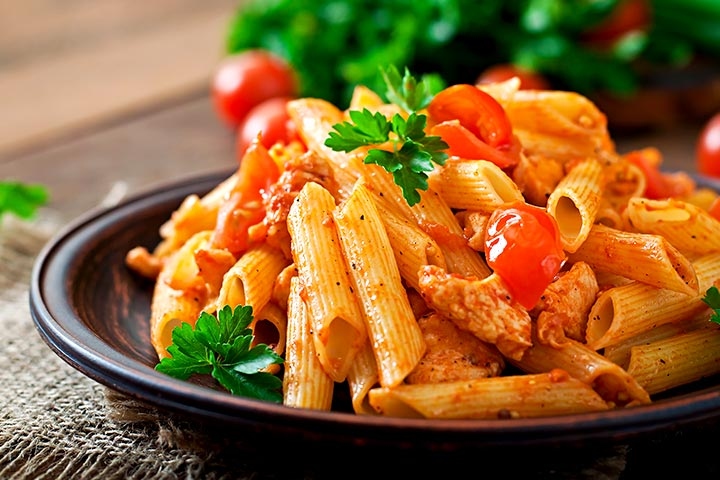 Whole Grain Recipes For Kids - Whole Wheat Pasta With Tomato Sauce