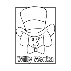 Roald Dahl Coloring Pages - Willy Wonka