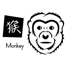 chinese new year coloring pages year of monkey - Chinese New Year Coloring Pages