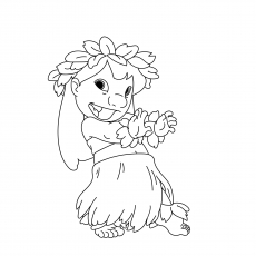 Hawaiian Feast Coloring Pages Lilo