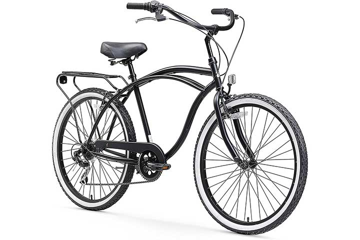 sixthreezero Around The Block Men's 7-Speed Beach Cruiser Bicycle