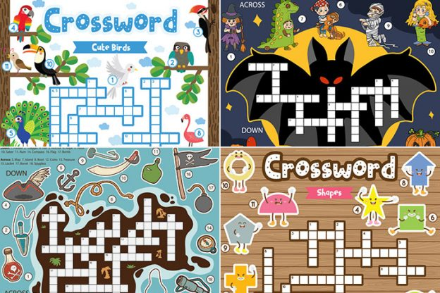 20 Learner's Crossword Puzzles For Kids