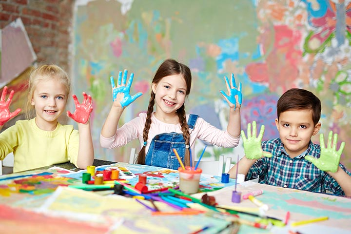 21 creative yet easy finger and thumb painting ideas for kids - Picture Painting For Kids