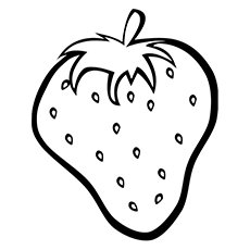 Strawberry Confusing Fruit Coloring Pages