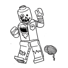 Coloring Sheet Printable of A Lego Zombie